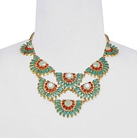 🌼 Like new Carolee turquoise + orange necklace